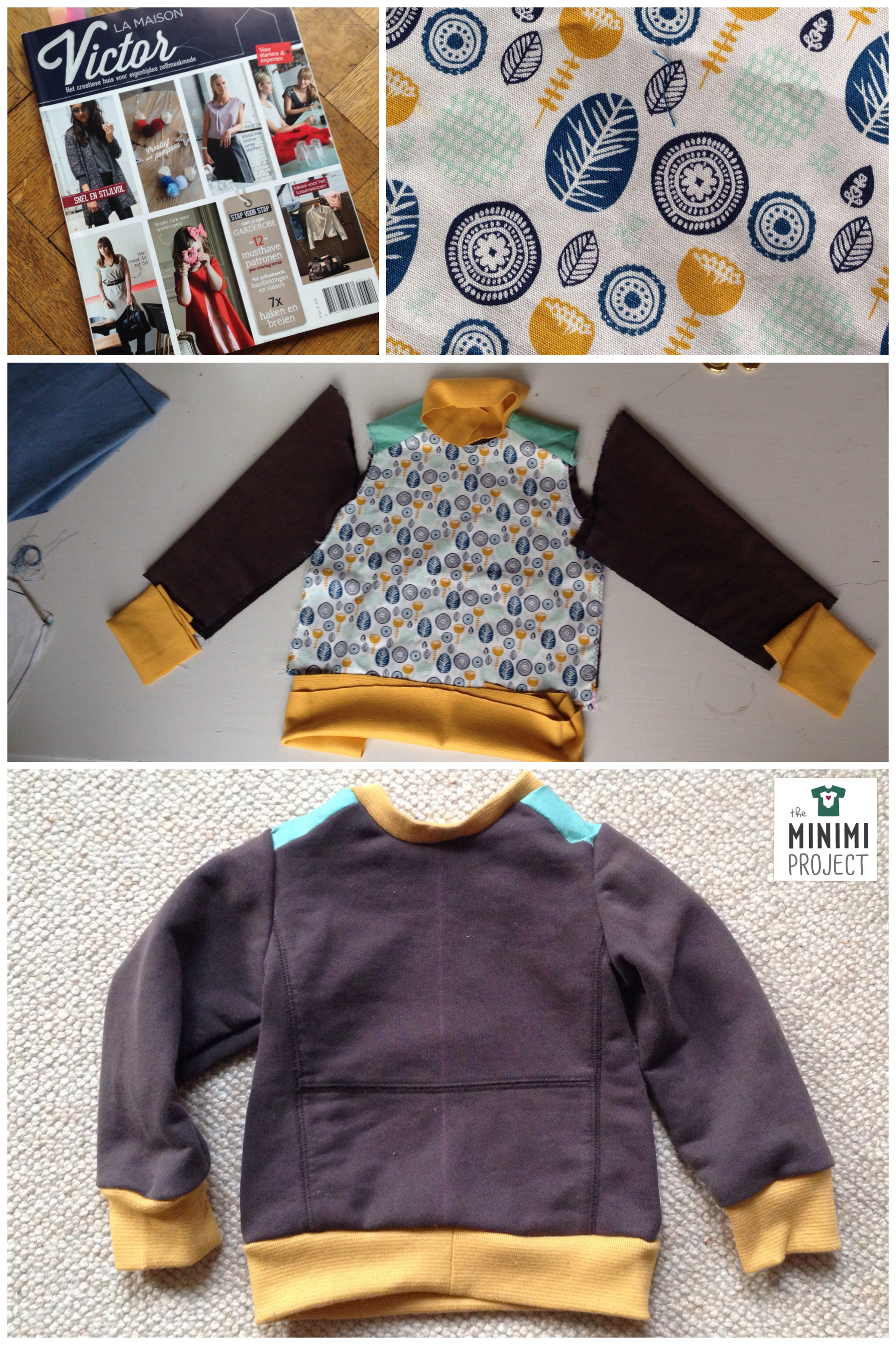 Using the leather sweater pattern from La maison Victor and a fabric from Veritas, i gave a second life to an old sweatshirt of mine.