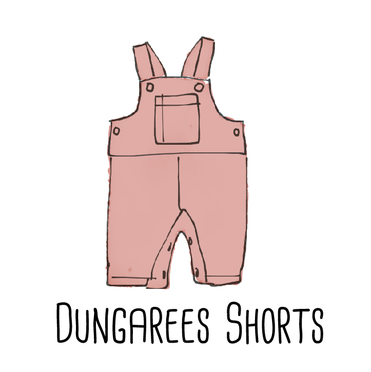 dungarees shorts pattern PDF
