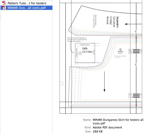 PDF Sewing Pattern Dungarees Skirt for Repurposing a Shirt