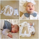 A baby jumpsuit pattern for boys and girls.