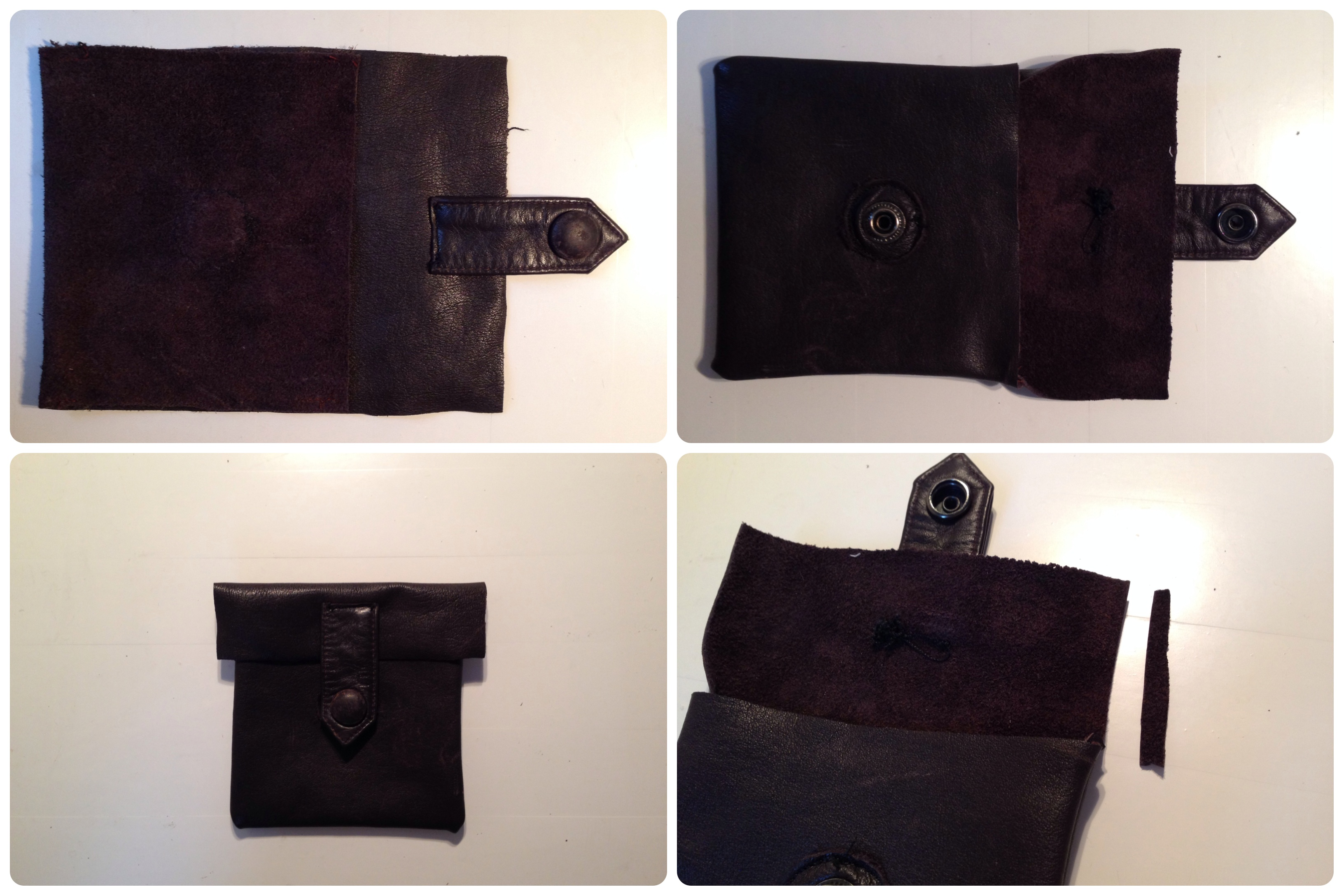 leather pouch steps