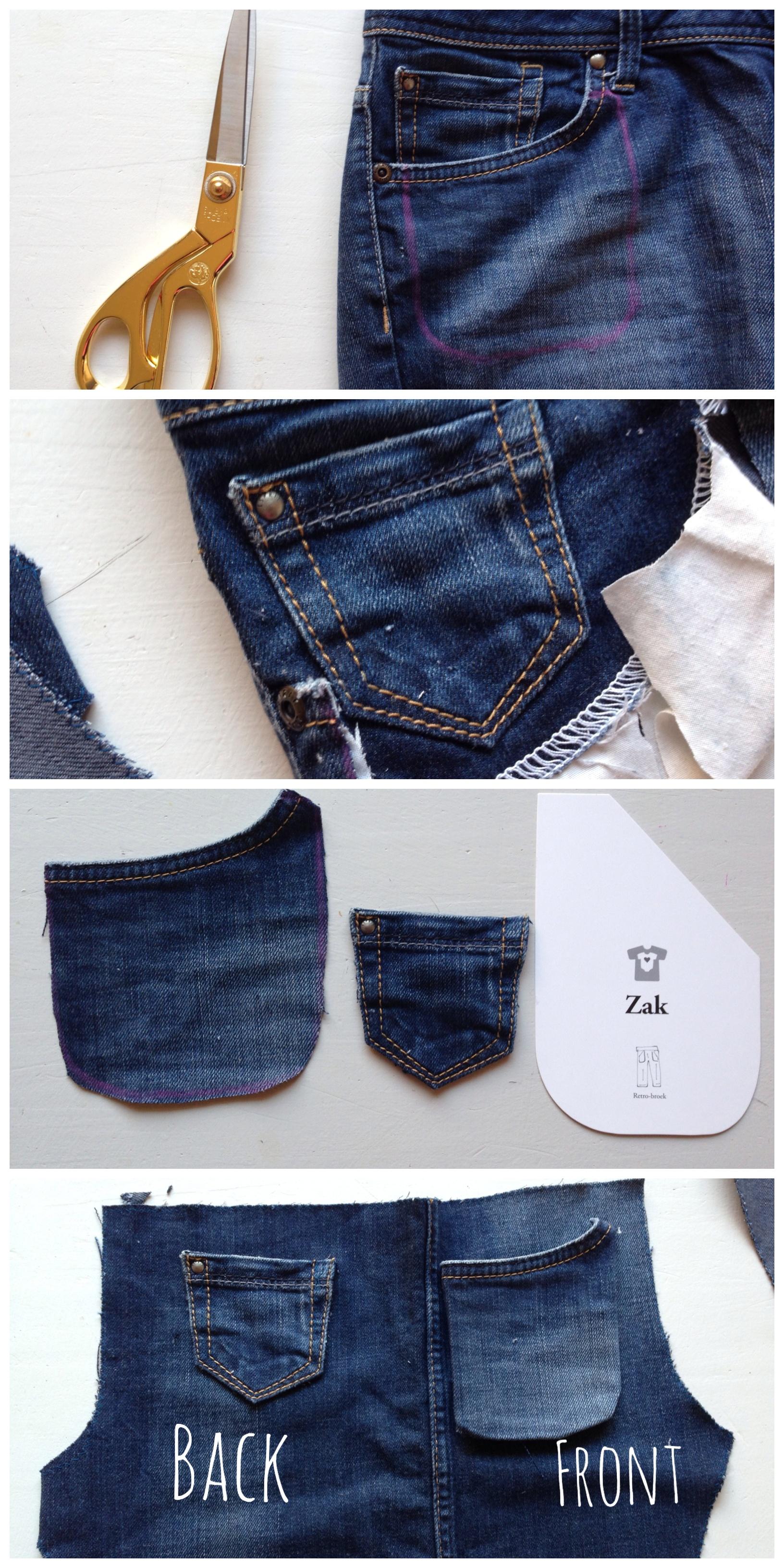 mini jeans little pocket
