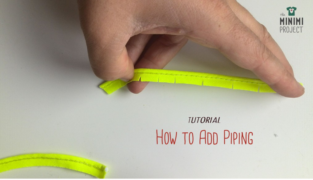 A sewing tutorial on how to add piping.
