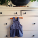 a dungarees skirt made from a shirt