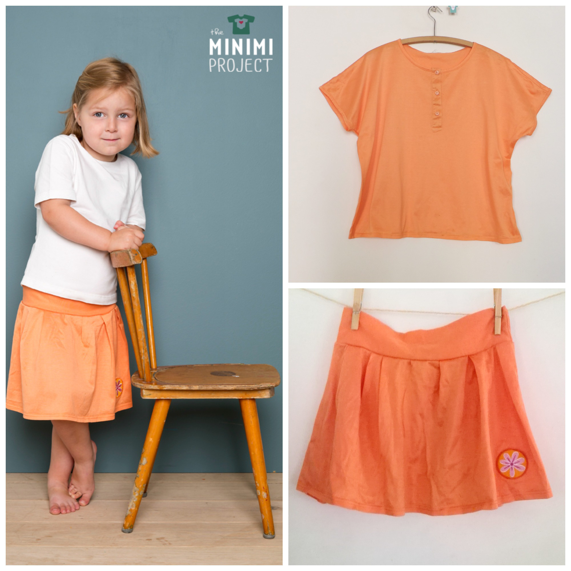 MINIMI Upcycled skirt from a t-shirt